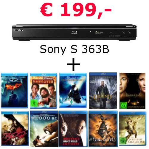 Sony S 363 B + 10 Bluerays