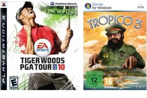Tiger Woods PGA Tour 10 und Tropico 3