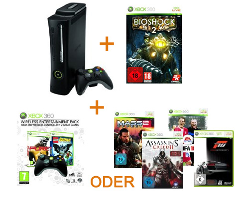Xbox Bundle + Bioshock 2 + Spiel oder Controller