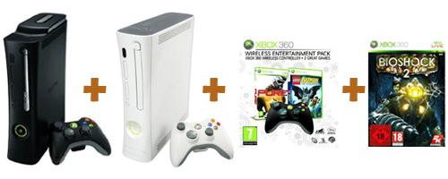 Xbox Elite + Xbox Arcade + WEP + Bioshock 2
